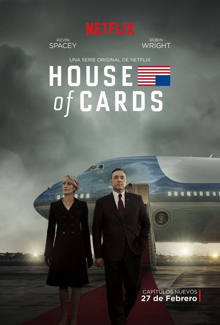 Afiche oficial de la esperada tercera temporada de la serie original de Netflix, House of Cards, house of cards