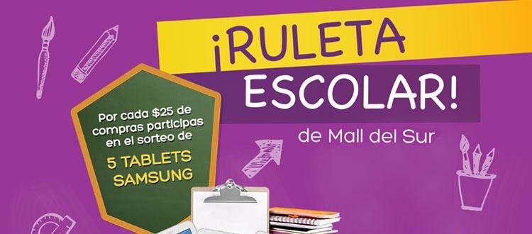 """""""La Ruleta Escolar"""" llega a Mall del Sur en este regreso a clases, mall del sur, la ruleta escolar, regreso a clases"""